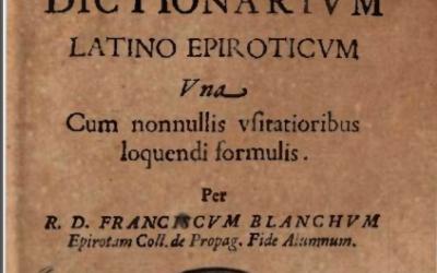 Fjalor latinisht-epirotisht, 1635 (Faksimile e botimit origjinal)
