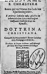 E Mbsuame e Krështerë, 1592 <br> (Riprodhim nga Michiel de Vaan, 2004).