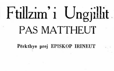 Ftillzim' i Ungjillit pas Mattheut