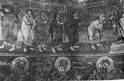 Fig. 6. - Kungimi i apostujve, detal, punë e David Selenicasit, Shënkoll të Voskopojës.