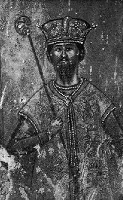 Fig. 8. - Karl Topia, detal ikone, punë e Kostandin Shpatarakut në Manastir të Ardenicës.